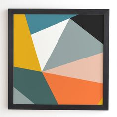 Give your contemporary living space a bold focal point with the colorful geometric composition of the Deny Designs Modern Geometric 33 Framed Wall Art. Painted Beds, Painted Barn Quilts, Abstract Geometric Art, Geometric Wall, Frames On Wall, Framed Wall Art, Creative Wall Painting, Artwork For Living Room, Mid Century Wall Art