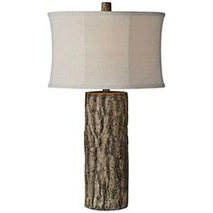 Willow Weathered Bark Look Table Lamp