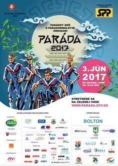 Poster for PARADA (Slovak Paralympic Commettee) event.