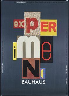 Ott, Nicolaus + Stein, Bernard.   Experiment Bauhaus.   Offset 1989.   Size: 33 x 23.2 in. (84 x 59 cm).   Printer: Reiter Druck.   Condition Details: (A) .