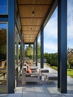 Lake House Two - Exterior - modern - porch - seattle - by McClellan Architects-awning