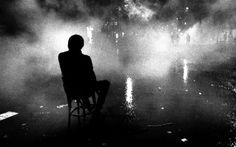 Claude Dityvon. A man in the chair. Bd. St. Michel. 21.05.1968