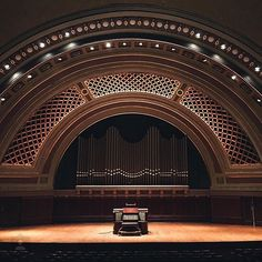 Hill Auditorium is a hotspot for campus musical performances and theatrical events #GoBlue