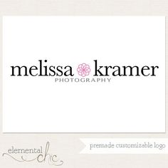 Photography Logo and Watermark Premade by ElementalChic on Etsy
