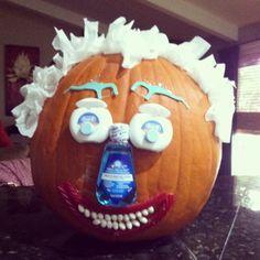 DIY pumpkin decorating using all dental material.