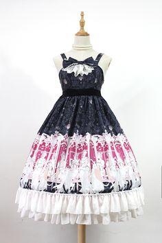 Neverland Elector Long High Waist Classic Lolita JSK Dress 4 Colors