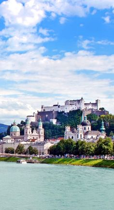 Panoramic view of Salzburg skyline with Festung Hohensalzburg and river Salzach, Salzburger Land, Austria | 30+ Truly Charming Places To See in Austria