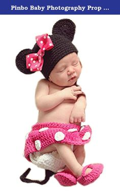 Pinbo Baby Photography Prop Cute Minnie Mouse Knitted Crochet Hat Dress Diaper Shoes. Condition: Brand New Material: Cotton Yarn Size:Suggest for 3-12 months baby Package: 1x Hat + Dress + Diaper+Shoes Friendly Tips: The size is measured by hands, please allow minor error of measurement . Photo color might be a little different from the actual product due to color display of different monitors.