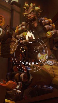Overwatch - Junkrat Wallpaper Mobile, C L W N on ArtStation at https://www.artstation.com/artwork/xmkvO