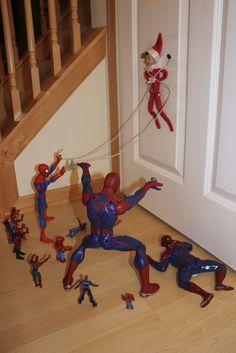 Elf on a shelf: Spider-man full frontal assault!