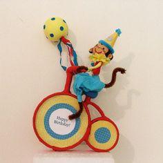 Bike Riding Birthday Monkey by marileejanedesigns on Etsy, $35.99
