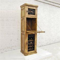 Artesano Iron Works FWCA0001 Mediterranean Style Wine Cabinet