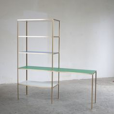 Rack + table small + brass - MULLER VAN SEVEREN