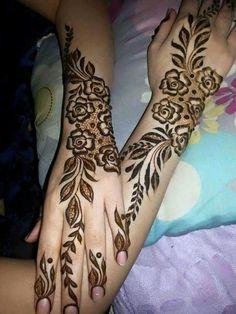 Beautiful eud henna design Khafif Mehndi Design, Latest Henna Designs, Floral Henna Designs, Arabic Henna Designs, Mehndi Style, Mehndi Design Pictures, Wedding Mehndi Designs, Unique Mehndi Designs, Beautiful Henna Designs