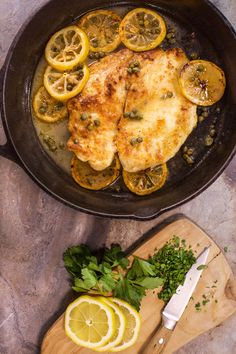 Rach makes chicken Piccata the traditional way and adds a little flair with a vermouth, lemon, and caper sauce.