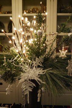 Kerstmis 2015: lichtjes, groen en wit.............Made by my friend Cigale...   :-)))