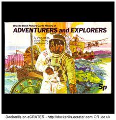 Brooke Bond Tea Card Album, Adventurers & Explorers.