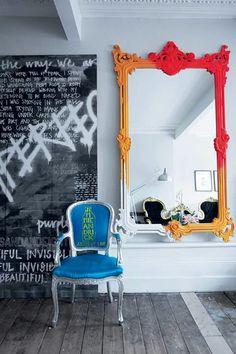 Stunning DIY Painted Mirror Designs Ideas, … – rustic home interior Graffiti Furniture, Diy Furniture, Graffiti Bedroom, Mirror Painting, Diy Painting, Spiegel Design, Rustic Home Interiors, Indian Home Decor, Dream Decor