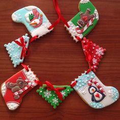 xmas stockings cookies