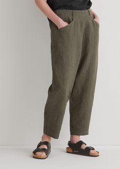 Alix Pinstripe Linen Trousers | TOAST