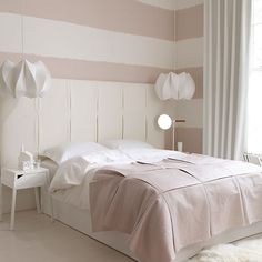 Pink and white bedroom with oversized headboard | White bedroom design ideas | Bedroom | PHOTO GALLERY | Livingetc | Housetohome.co.uk
