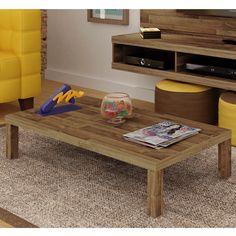 Gosta de ter uma #mesa de centro na #sala que dê para colocar pipoca, revistas, bebidas controle e tudo que você quiser?! Então se apaixone por esta #estilo #rústico! #decoração #design #madeiramadeira