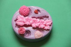Flower Mum Heart Leaf Rose Fondant Silicone Mold Makes Great soap Embeds and looks great attached to the tops of bar soaps! WhysperFairy