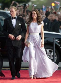 Kate Middleton wears McQueen on the red carpet