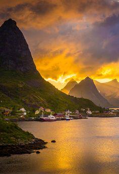 Sunset at Reine Lofoten in Norway