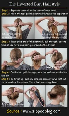 Ha. I can do this when I'm having a bad hair day or I'm just lazy to make my hair all nice and down :)
