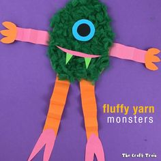 Do you like our fluffy yarn monsters? Made from recycled cardboard scraps and pom pom trimmings (swipe to see them all) Scary Halloween Crafts, Dollar Store Halloween, Yarn Crafts For Kids, Craft Stick Crafts, Yarn Monsters, Ghost Crafts, Monster Crafts, Kindergarten Art Projects, Non Toy Gifts