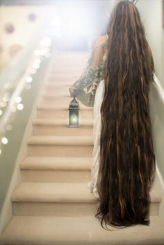stunning long floor length brown hair!