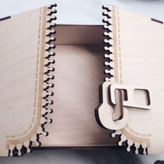 Wooden Zipper box Puzzle decor for home model Vector plan of the CNC wood, wooden, vector graphics,laser,DXF 3d Laser, Laser Cut Wood, Laser Cutting, Laser Art, Laser Cutter Ideas, Laser Cutter Projects, Woodworking Furniture, Woodworking Projects, Router Projects