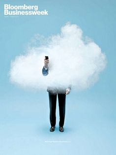 cloud computing non significa avere la testa tra le nuvole! Web Design Mobile, Bloomberg Businessweek, Magazine Cover Design, Magazine Covers, Funny Commercials, Publication Design, Illustration, Cloud Computing, Grafik Design