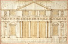 Andrea Palladio, Design for the Villa Repeta at Campiglia, ca. 1560s, RIBA Library Books & Periodicals Collection Andrea Palladio.