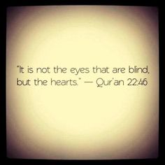Heart is blind