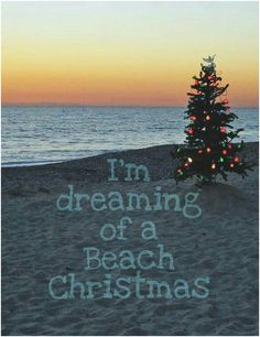 Dreaming of a Beach Christmas That would be nice. but we have been going to the beach here for the last 2 Stephens days 😍😍😍 love it. Tropical Christmas, Beach Christmas, Coastal Christmas, Beach Holiday, Christmas Sayings, Christmas Eve, Christmas Island, Christmas Stuff, Holiday Fun