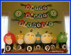 Organizando uma festa com o tema de Angry Birds