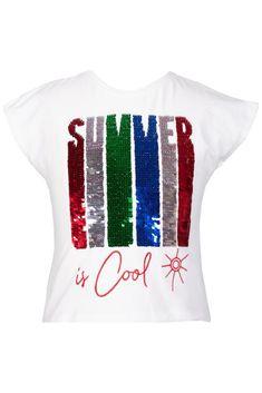 Summer is Cool T-shirt Fc 1, Summer Tshirts, Boys T Shirts, Cotton Shorts, Summer Girls, Short Sleeves, Printing, Range, Cool Stuff