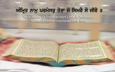 Sri Guru Granth Sahib Ji is what sikh people consider what sikh people read out of. Like the muslims read out of the quran. Gurbani Quotes, Gita Quotes, Bible Quotes, Quotes Images, True Quotes, Guru Granth Sahib Quotes, Shri Guru Granth Sahib, Inspirational Quotes Pictures, Motivational Thoughts