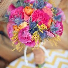 Inspiration: Neon Brights {A colourful and fun bridal mood board}