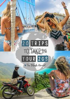 20 Trips to take in your 20s. Not sure I would do all of these, but sure would like to par take in most!