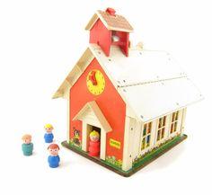 Vintage Fisher Price School House by BrownEyedRoseVintage on Etsy