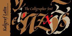 Kaligraf Latin + Cyr Font | dafont.com