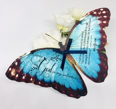 Excited to share this item from my #etsy shop: 1 x 3D Bible Quote Verse, Butterfly, Illustration Isaiah 12 v 2. Hand Cut. Christian Gift, Craft Embellishment, Baptism Gift, Home Decor Christian Gifts, Christian Quotes, Isaiah 12, Butterfly Illustration, Butterfly Wall Art, Baptism Gifts, Bible Verses Quotes, Gift Tags, Butterflies