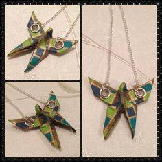 Origami Paper Moth / Butterfly Necklace on Etsy, £10.00
