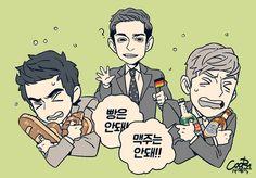 Abnormal Summit. Robin, Daniel and Julien