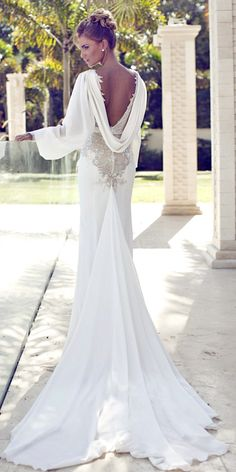 Spring Wedding Dresses With Gorgeous Architectural Details ❤ See more: http://www.weddingforward.com/spring-wedding-dresses/ #weddings #dresses