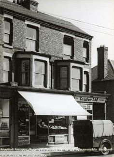 Shops on Colwick Road, Sneinton, Nottingham, 1951 Council Estate, Nottingham, Family History, Buildings, The Past, Shops, Victorian, Memories, Places