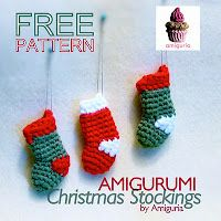 crocheted christmas stocking ordaments-free pattern